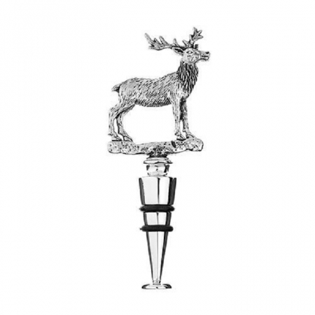 Orchid Designs Bottle Stopper with Standing Stag
