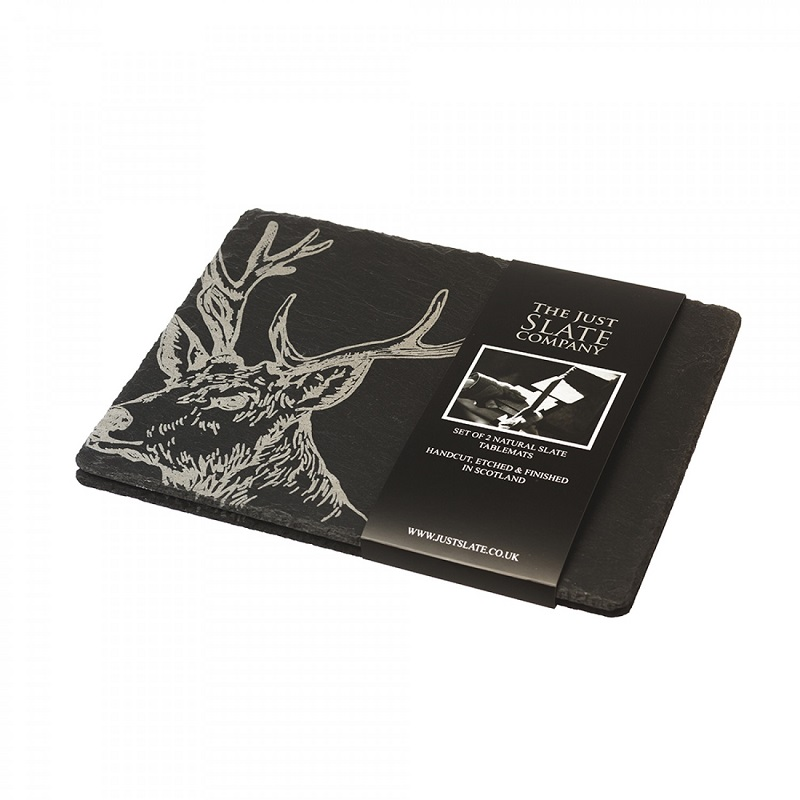 Just Slate Place Mats x 2 - Stag
