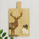Just Slate Large Oak Serving Paddle, Monarch Stag