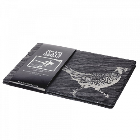 Just Slate Place Mats x 2 - Pheasant