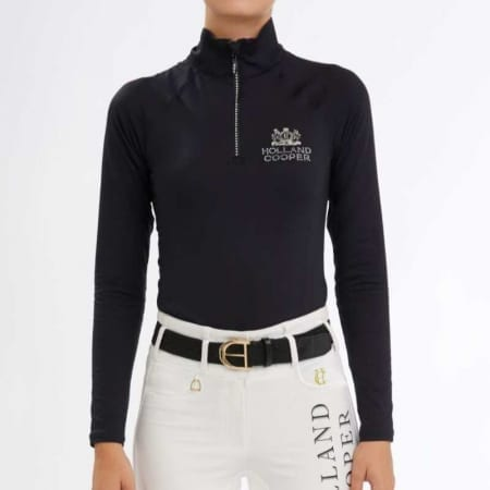 Holland Cooper Crystal Equi Base Layer Black