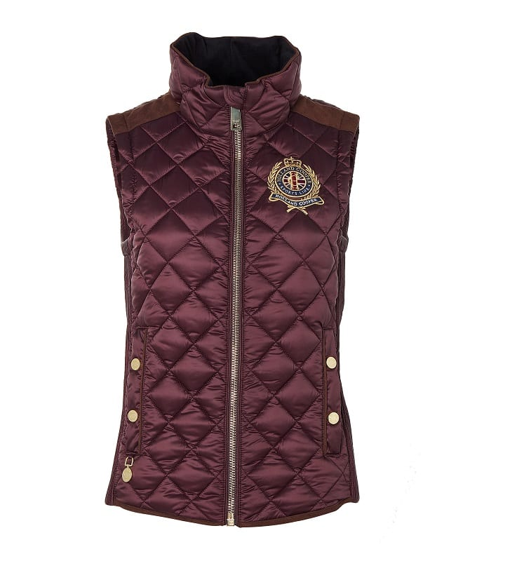 Holland Cooper Equi Diamond Quilt Gilet – Mulberry