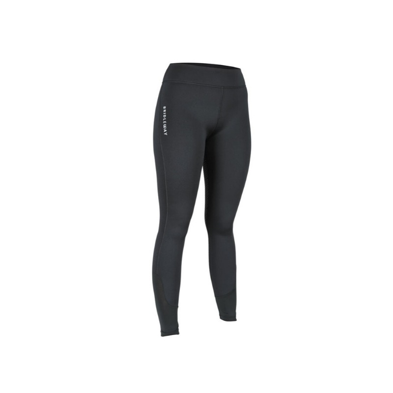 Bridleway Maple Winter Riding Tights – Black
