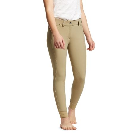 Ariat Youth Tri Factor EQ Grip Knee Patch Breech - Tan